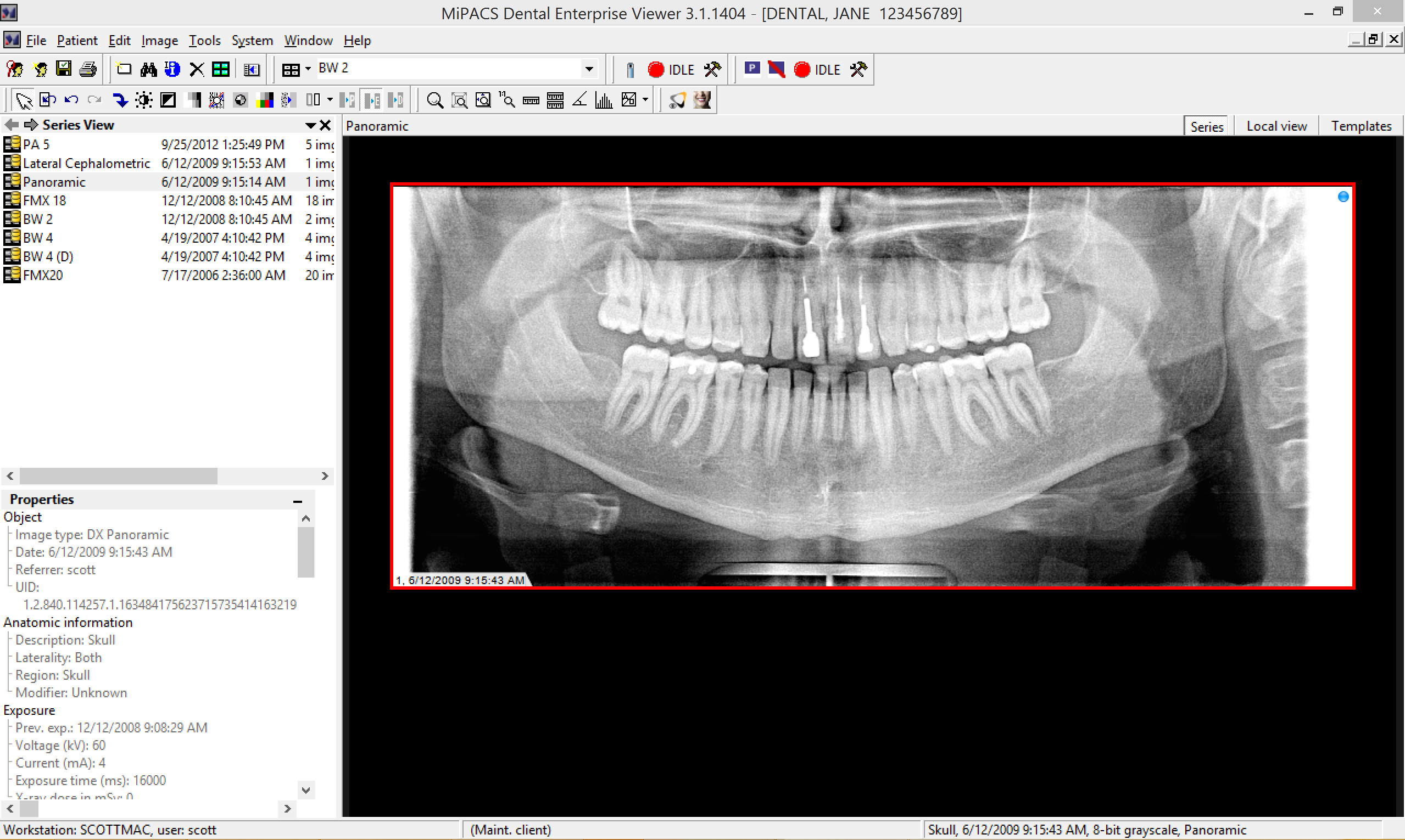 MiPACS Dental Enterprise Viewer - Medicor Imaging